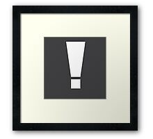 Metal Gear Exclamation ! Framed Print