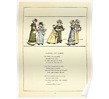 Marigold Garden Pictures and Rhymes Kate Grenaway 1900 0035 Mammas and Babies Poster