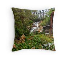 Sylvan Falls and Mill Throw Pillow