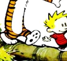 Calvin and hobbes funny Time Sticker