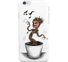 Baby groot fun, Groot Play Music iPhone Case/Skin