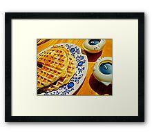 Belgian Waffles Framed Print