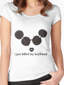 i killed my boyfriend Women's Fitted Scoop T-Shirt