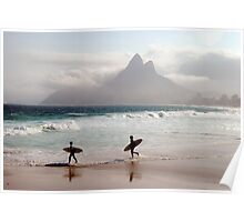 Surfers, Ipanema, Rio de Janeiro Poster