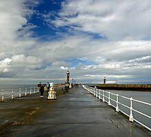Along The West Pier, Whitby by Rod Johnson