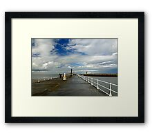 Along The West Pier, Whitby Framed Print