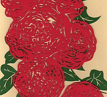 red roses by Lisa Richards
