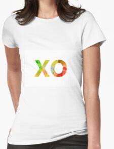 Watercolor alphabet minimalist painting Womens Fitted T-Shirt