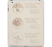 Rhymes for the Young Folk William and Hellen Allingham art Kate Greenaway 0038 Gerald Evey Henry Here and There iPad Case/Skin
