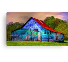 Barn gets a brush up Canvas Print