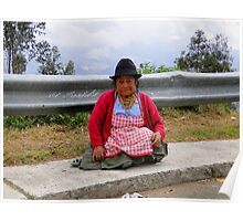Brave Ecuador Quechuan Indian Woman Poster