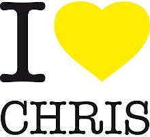 I ♥ CHRIS Photographic Print