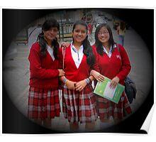 Quito Schoolgirls Poster