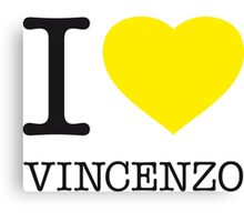I ♥ VINCENZO Canvas Print