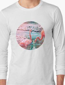 Exotic flamingos Long Sleeve T-Shirt