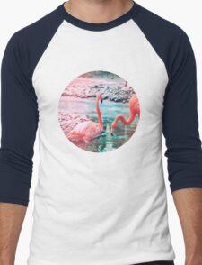 Exotic flamingos Men's Baseball ¾ T-Shirt