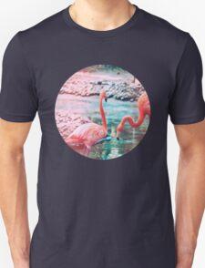 Exotic flamingos Unisex T-Shirt