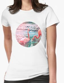 Exotic flamingos Womens Fitted T-Shirt
