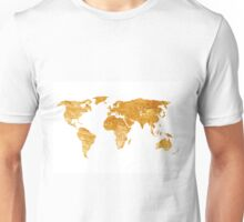 World map silhouette for sale Unisex T-Shirt