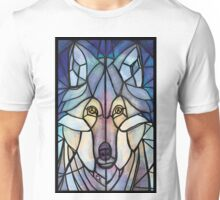 Stained Glass Wolf Unisex T-Shirt