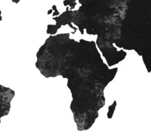 Black world map silhouette Sticker
