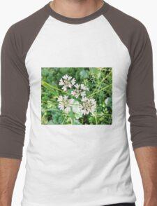 Beautiful White Flower Men's Baseball ¾ T-Shirt