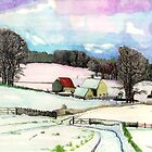 Bredon Hill Gloucestershire in the snow by doatley