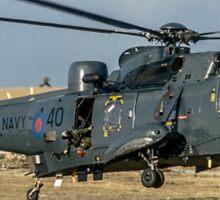 Westland Sea King HAS.5 ZA136/B-40 at RAF Stanley Sticker