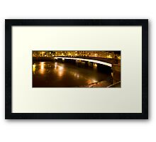 Little night panoramic of a stone bridge Framed Print