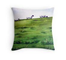 Sheep Sprinkles Throw Pillow