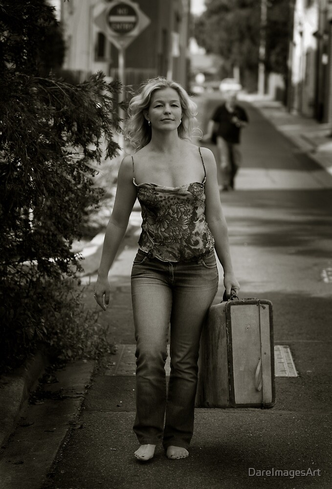 walking away from her lover by DareImagesArt