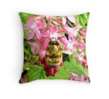 SPRING BEE Throw Pillow
