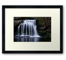 West Burton Waterfall , Yorkshire Dales Framed Print