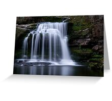 West Burton Waterfall , Yorkshire Dales Greeting Card