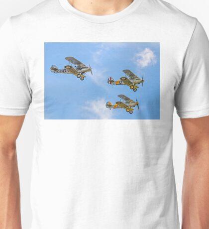 Three Hawker fighter biplanes Unisex T-Shirt
