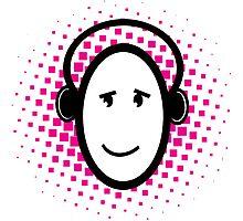 Happy DJ Photographic Print