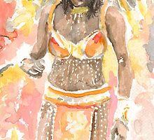 Rhythm of life - Bashful dancer by Ally Tate