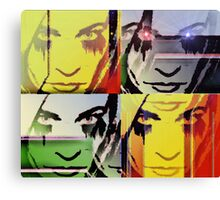 Ode To Warhol Without Border Canvas Print