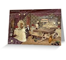 Busy Wedding Night Greeting Card