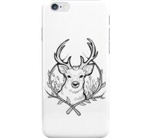 Deer (Black) iPhone Case/Skin