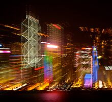 Hong Kong Abstracted by Gina Ruttle  (Whalegeek)