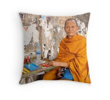 In The Amulet Market Throw Pillow