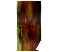 Abstraction rouge et vert Poster