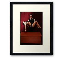 The Devil and his victim 2 Framed Print