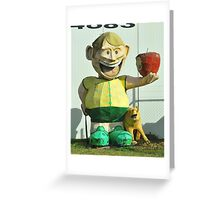 The Big Apple Lover and His Dog Greeting Card