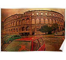 Roman Amphitheater. Pula. Croatia Poster