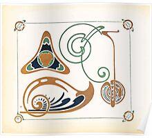 Maurice Verneuil Georges Auriol Alphonse Mucha Art Deco Nouveau Patterns Combinaisons Ornementalis 0005 Poster
