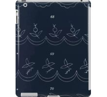 Briggs & Company Patent Transferring Papers Kate Greenaway 1886 0015 Floral and Fruit Inverted iPad Case/Skin