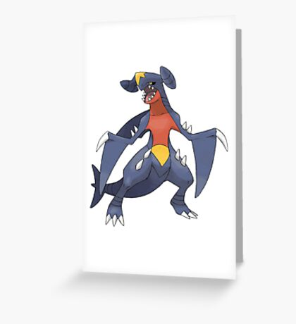 garchomp Greeting Card