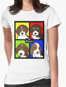 Meet The Beagles! Womens Fitted T-Shirt